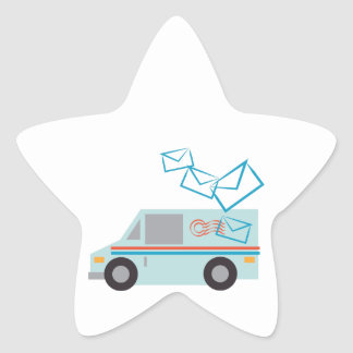 Mail Truck Star Sticker