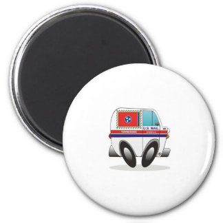 Mail Truck TENNESSEE 2 Inch Round Magnet
