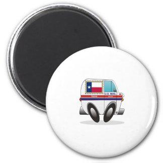 Mail Truck TEXAS 2 Inch Round Magnet