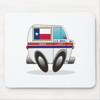 Mail Truck TEXAS Mouse Pad