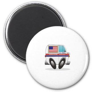 Mail Truck UNITED STATES 2 Inch Round Magnet
