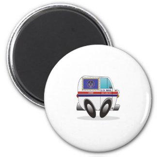 Mail Truck UTAH 2 Inch Round Magnet