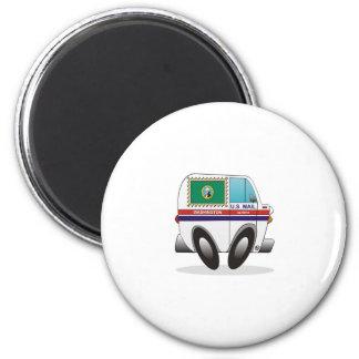 Mail Truck WASHINGTON 2 Inch Round Magnet