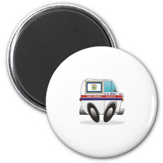 Mail Truck WEST VIRGINIA 2 Inch Round Magnet