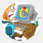 mailbomb copy cartum email bomba na tela do comput adesivo