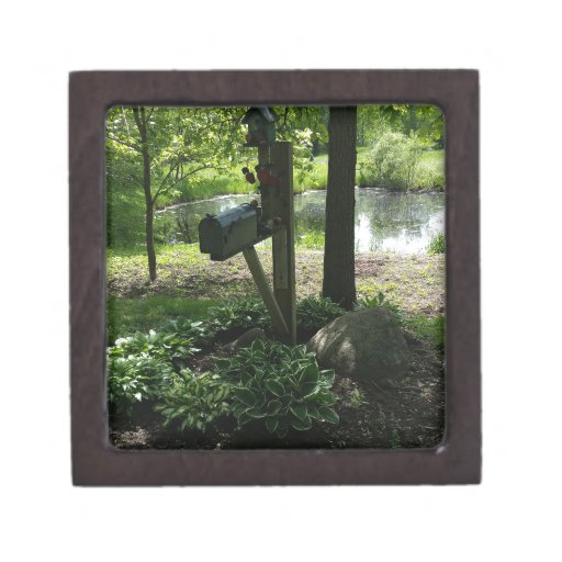 Mailbox by the pond gift box