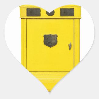 mailbox heart sticker