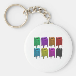 Mailbox POPART Gifts for Postal Workers Basic Round Button Keychain