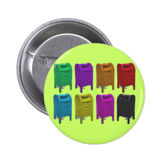 Mailbox POPART Gifts for Postal Workers 2 Inch Round Button