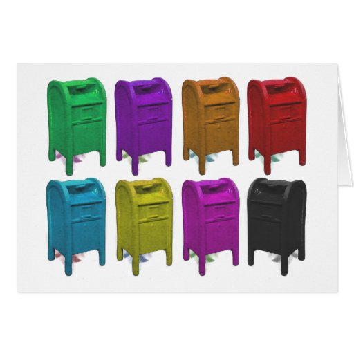 Mailbox POPART Gifts for Postal Workers Greeting Card