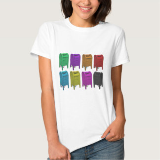 Mailbox POPART Gifts for Postal Workers Tees