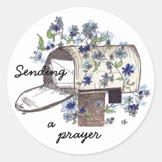 Mailbox Prayer Classic Round Sticker