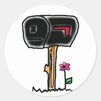 mailbox round sticker