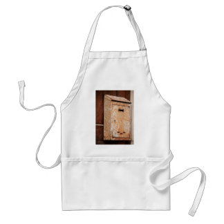 Mailbox rusty outdoors adult apron