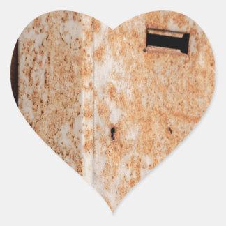 Mailbox rusty outdoors heart sticker