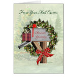 Mailbox Season's Greetings from Mail Carrier Greeting Card