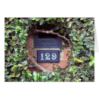 Mailbox Slot Number 129 Ivy Note / Greeting Card