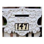 Mailbox Slot Number 147 Postcard