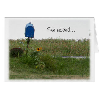 Mailbox & Sunflower We Moved Blank Card