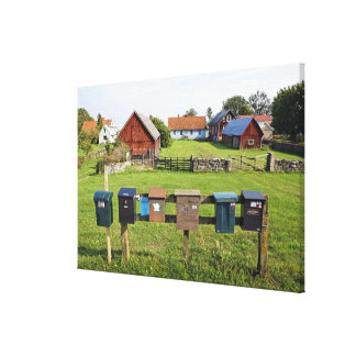 Mailboxes and Houses Canvas Print