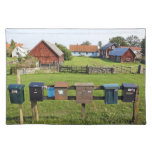 Mailboxes and Houses Cloth Placemat