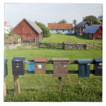 Mailboxes and Houses Large Square Tile