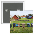 Mailboxes and Houses Pinback Button
