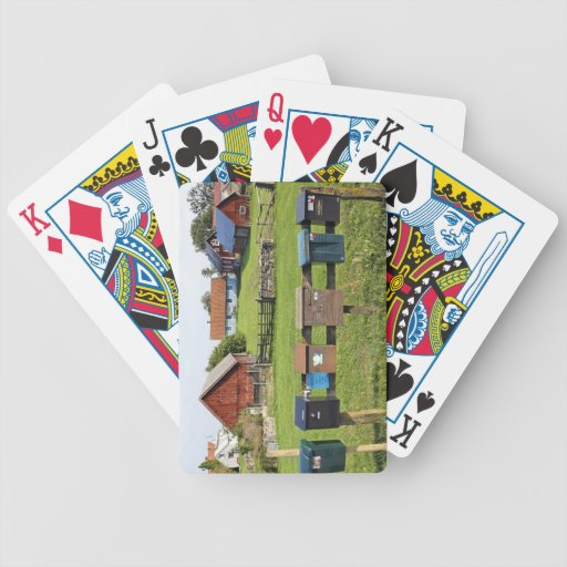 Mailboxes and Houses Poker Cards