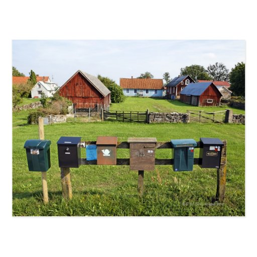 Mailboxes and Houses Postcard