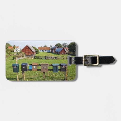 Mailboxes and Houses Tag For Bags