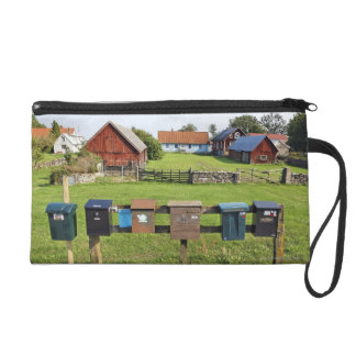 Mailboxes and Houses Wristlet Purse