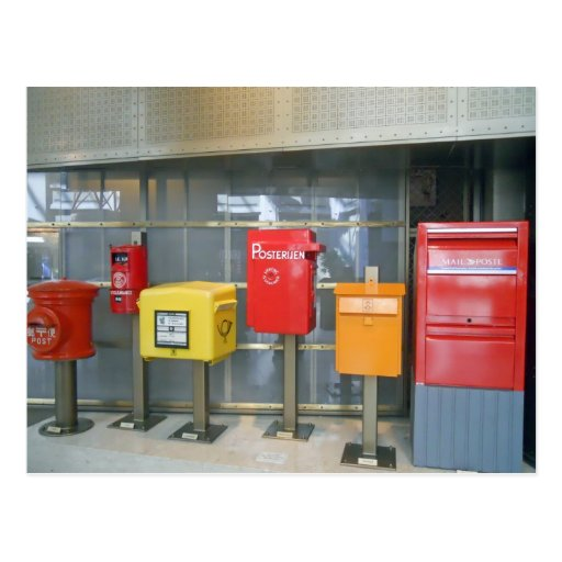 Mailboxes from Around the World Postcard
