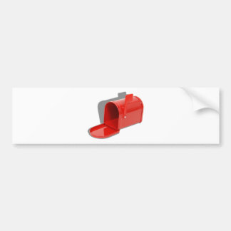 MailboxOpen051409shadows Etiqueta De Parachoque