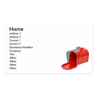 MailboxOpen051409shadows, nombre, dirección 1, Tarjetas De Visita