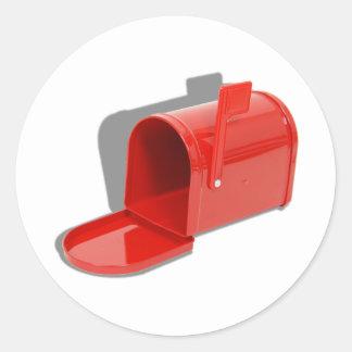 MailboxOpen051409shadows Pegatina Redonda