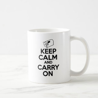 Mailcarrier Keep Calm and Carry On Coffee Mug