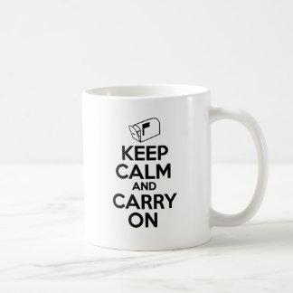 Mailcarrier Keep Calm and Carry On Coffee Mug