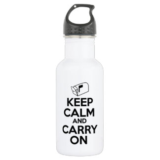 Mailcarrier Keep Calm and Carry On Stainless Steel Water Bottle