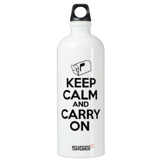 Mailcarrier Keep Calm and Carry On Water Bottle