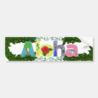 Maile Lei ~ Aloha bumper sticker