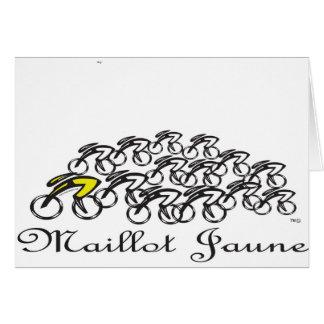Maillot Jaune Greeting Card