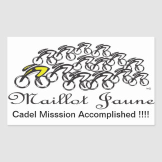 Maillot Jaune Rectangular Sticker