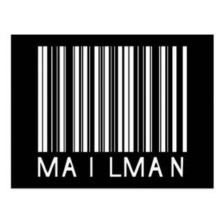 Mailman Bar Code Postcard