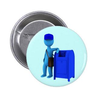 Mailman 2 Inch Round Button