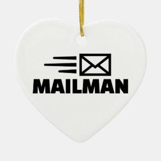 Mailman Ceramic Ornament