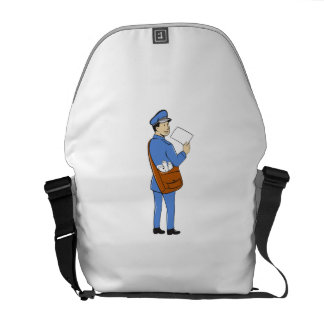Mailman Deliver Letter Isolated Cartoon Messenger Bag
