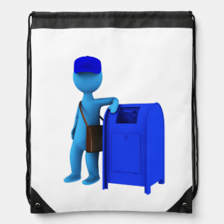 Mailman Drawstring Bag