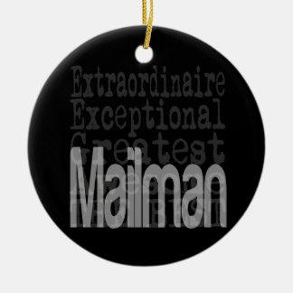 Mailman Extraordinaire Ceramic Ornament