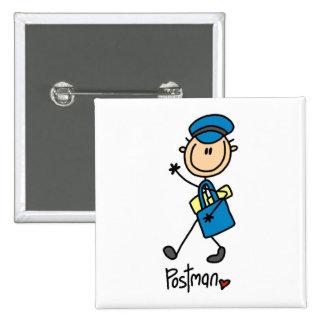 Mailman Gift 2 Inch Square Button