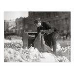 Mailman in the Snow, 1922 Postcard